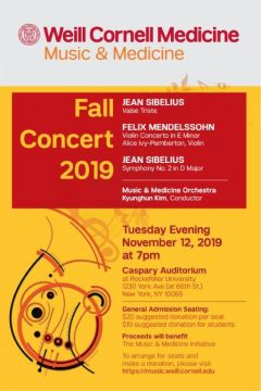 Fall Concert 2019 / Music and Medicine